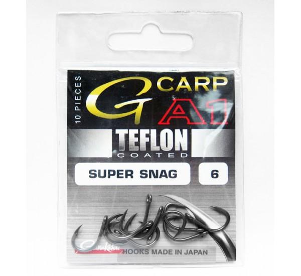 Куки Gamakatsu G - Carp SUPER SNAG A1 TEFLON