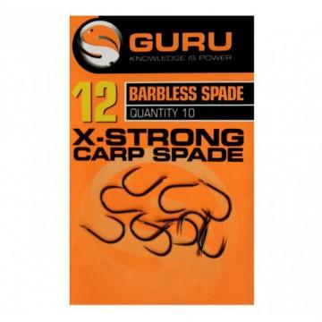 Куки Guru X-Strong Carp Spade Barbless