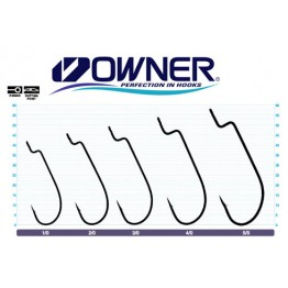 Куки Owner Offset Worm Wide Gap