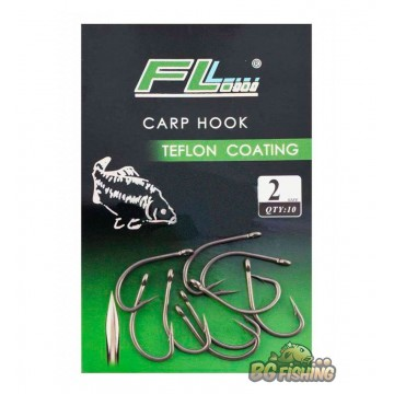 Шарански куки FL Carp Hook Teflon Coating