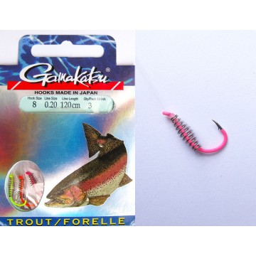 Вързани куки Gamakatsu LS 5314A Trout Spiral