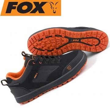 Обувки Fox Black & Orange Trainers