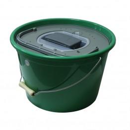Кофа за жива стръв 25 литра кръгла+помпа