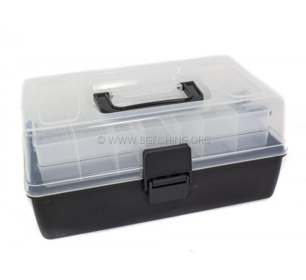 Куфар за риболовни принадлежности черен