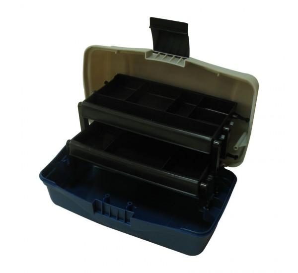 Куфарче 2 нива голямо синьо овал - (BOX-M2P)