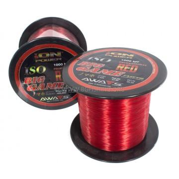 Монофилно влакно Awas Ion Power Big Game 1000 MT - червено
