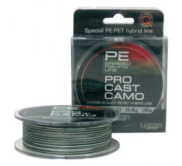 Плетено влакно Lazer PE Pro Cast Camo 100m