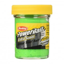 Паста PB - Extra Scent Glitter Trout Bait Fluo Green Yellow