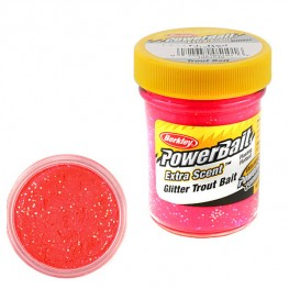 Паста PB - Extra Scent Glitter Trout Bait Fluo Red